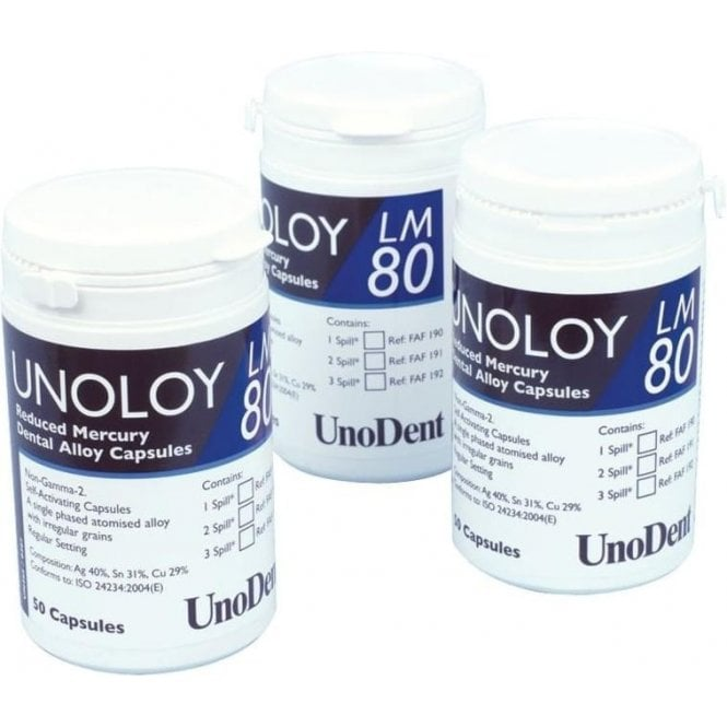 UnoDent Unoloy LM 80 Capsules 3 Spill Regular Set (FAF192)