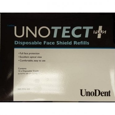 UnoDent Unotect+ Disposable Face Shields Refill (PYG323)